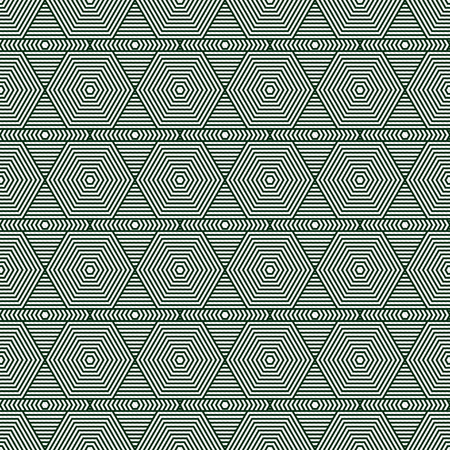 Green and White Hexagon Tiles Pattern Repeat Background that is seamless and repeats photo