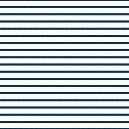 stripe: Thin Navy Blue and White Horizontal Striped Textured Fabric Background that is seamless and repeats