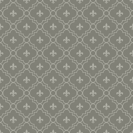 White and Dark Gray Fleur-De-Lis Pattern Textured Fabric Background that is seamless and repeats photo