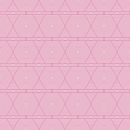 Pink and White Hexagon Tiles Pattern Repeat Background that is seamless and repeats photo
