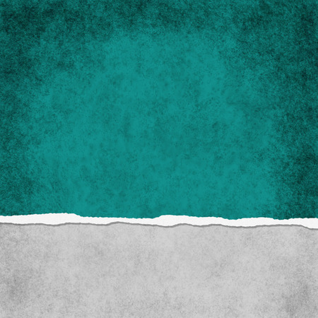 Square Dark Teal Grunge Torn Textured Background with copy space at top and bottom