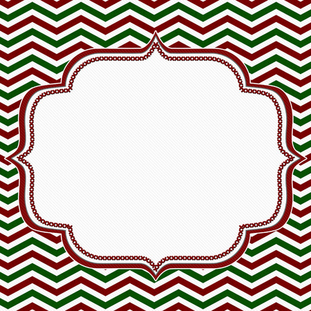green lines: Red, Green and White Chevron Frame with Embroidery Background with center for copy-space, Classic Chevron Frame