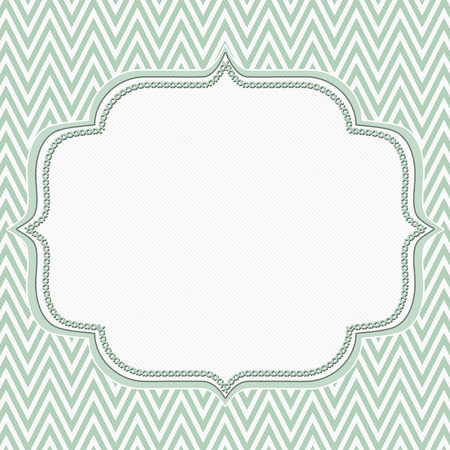zig zag: Pale Green and White Chevron Zigzag Frame Background with center for copy-space, Classic Chevron Zigzag Frame