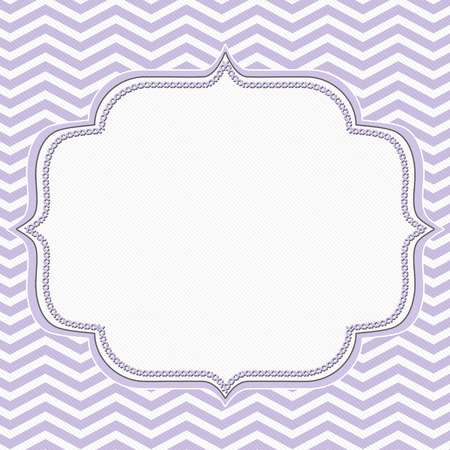Purple and White Chevron Frame with Embroidery Background with center for copy-space, Classic Chevron Frame
