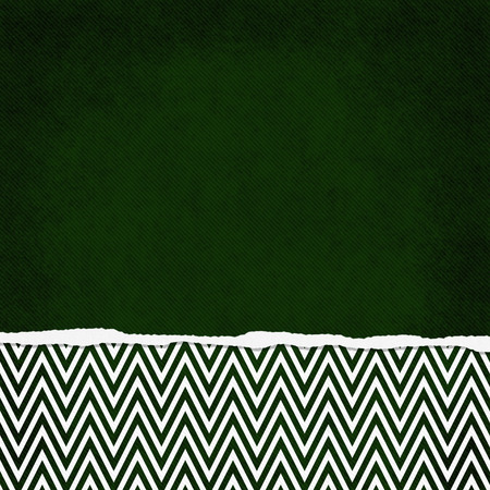 Square Green and White Zigzag Chevron Torn Grunge Textured Background with copy space at top photo