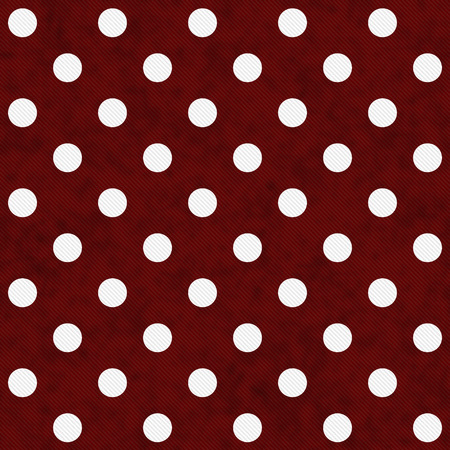 Red and White Large Polka Dots Pattern Repeat Background that is seamless and repeats photo
