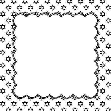 Black and White Star of David Patterned photo
