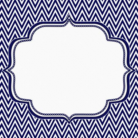 azul marino: Azul marino y negro de Chevron del zigzag de fondo del marco con el centro para la copia-espacio, marco clásico Chevron del zigzag