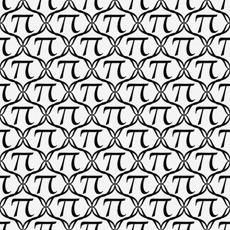 Black and White Pi Symbol Repeat Pattern Background that is seamless and repeats photo