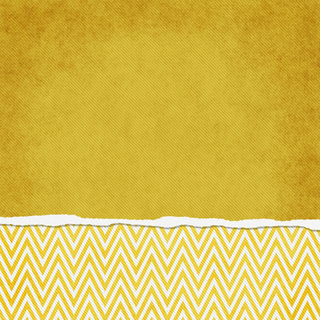 vintage background: Square Yellow and White Zigzag Chevron Torn Grunge Textured Background with copy space at top