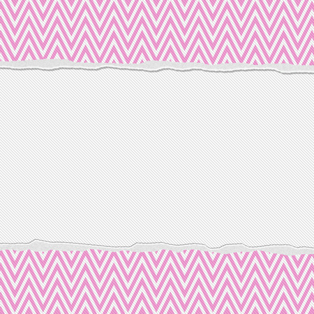 Pink and White Torn Chevron Frame Background with center for copy-space, Classic Torn Chevron Frame photo