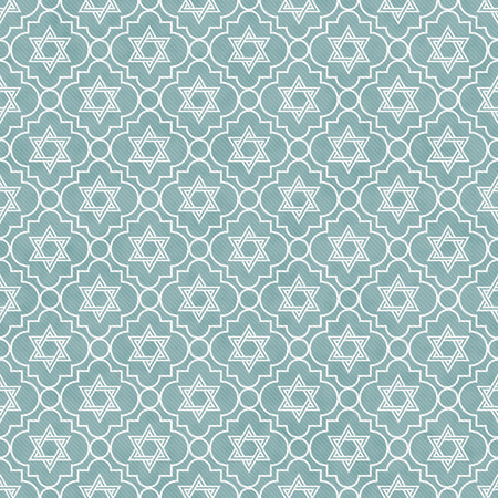 Blue and White Star of David Repeat Pattern Background photo