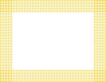 baby border: Yellow Gingham Background with center isolated for copy-space, Yellow Gingham Frame