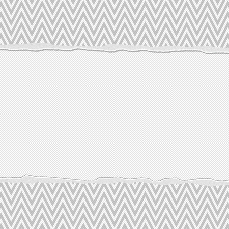 Gray and White Torn Chevron Frame Background with center for copy-space, Classic Torn Chevron Frame