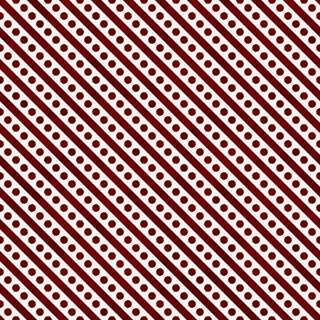 Red and White Small Polka Dots and Stripes Pattern Repeat Background that is seamless and repeats photo