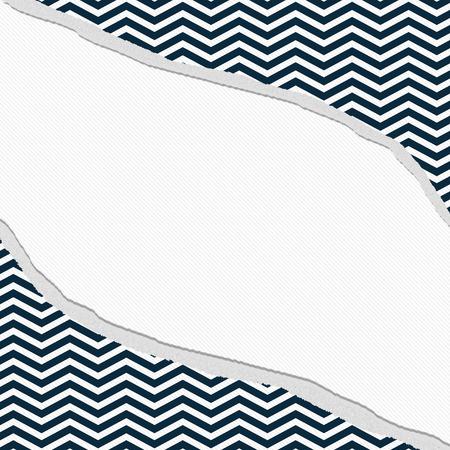 azul marino: Azul marino y blanco Chevron marco con el fondo rasgado con el centro para la copia-espacio, Frame Chevron Torn Classic