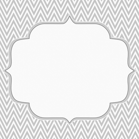 gray: Gray and White Chevron Zigzag Frame Background with center for copy-space, Classic Chevron Zigzag Frame Stock Photo