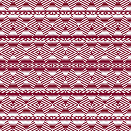 Red and White Hexagon Tiles Pattern Repeat Background that is seamless and repeats photo