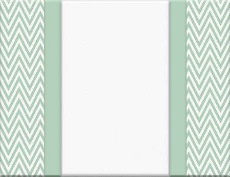 Green and White Chevron Zigzag Frame with Ribbon Background with center for copy-space, Classic Chevron Zigzag Frame photo