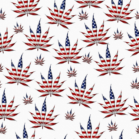 Marijuana Leaf with the colors of American flag Marijuana Leaf Pattern Repeat Background that is seamless and repeats photo
