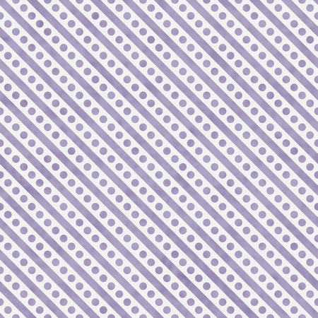 diagonal stripes: Light Purple and White Small Polka Dots and Stripes Pattern Repeat Background that is seamless and repeats Stock Photo