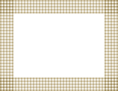 gingham: Beige Gingham Background with center isolated for copy-space, Beige Gingham Frame