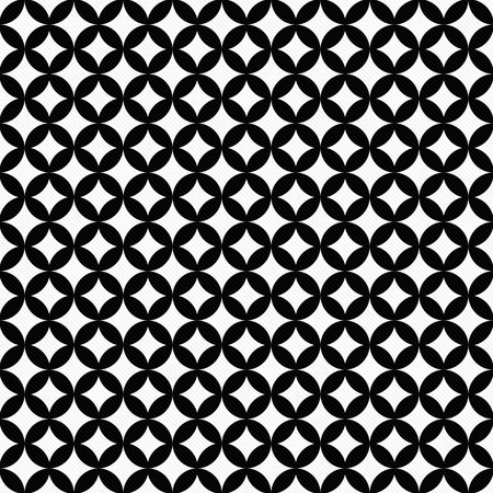 interconnected: Black and White Interconnected Circles Tiles Pattern Repeat Background that is seamless and repeats Stock Photo