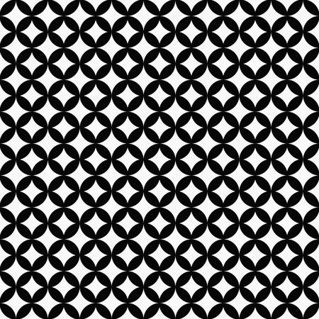 interconnected: C�rculos blancos y negros Interconectados Azulejos modelo de la repetici�n de fondo que es transparente y se repite
