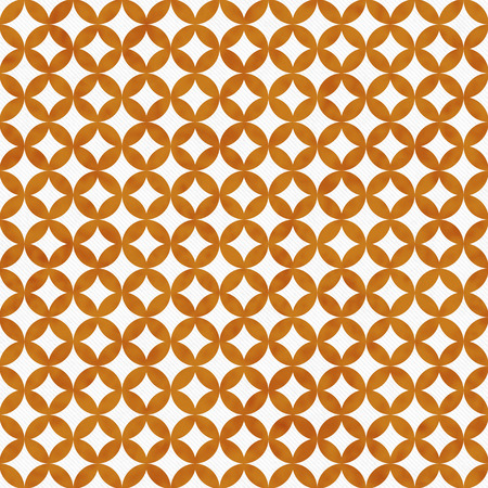 interconnected: Orange and White Interconnected Circles Tiles Pattern Repeat Background that is seamless and repeats Stock Photo