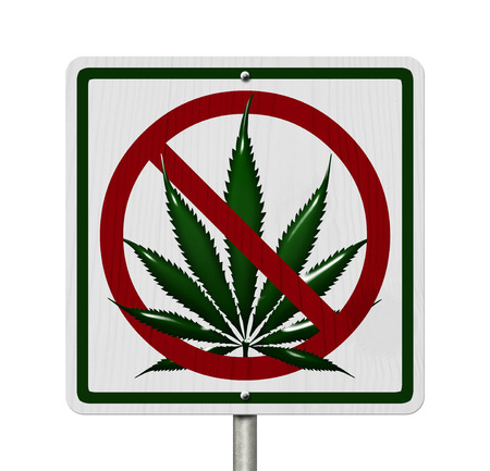 under the influence: Driving Under the Influence of  Marijuana, A road highway sign with a marijuana leaf isolated on white Stock Photo