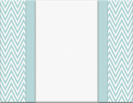 horizontal border: Blue and White Chevron Zigzag Frame with Ribbon Background with center for copy-space, Classic Chevron Zigzag Frame Stock Photo