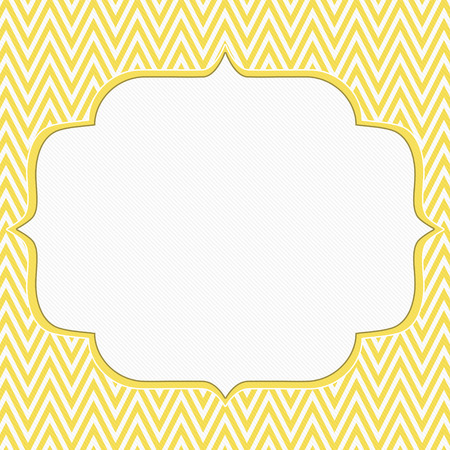 Yellow and White Chevron Zigzag Frame Background with center for copy-space, Classic Chevron Zigzag Frame