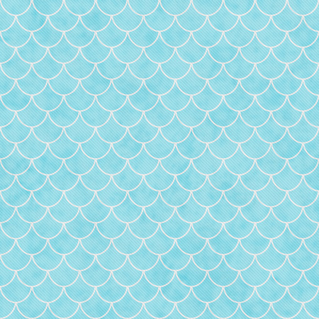 shell pattern: Teal and White Shell Tiles Pattern Repeat Background that is seamless and repeats