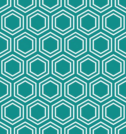 청록색과 흰색 육각형 타일 반복 패턴 반복 및 반복되는 배경