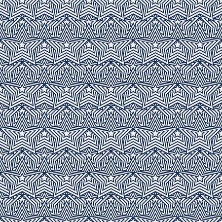 navy blue background: Navy Blue and White Star Tiles Pattern Repeat Background that is seamless and repeats Stock Photo