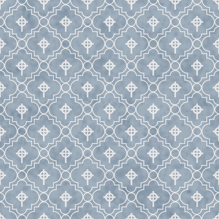 celtic cross: Pale Blue and White Celtic Cross Symbol Tile Pattern Repeat Background that is seamless and repeats