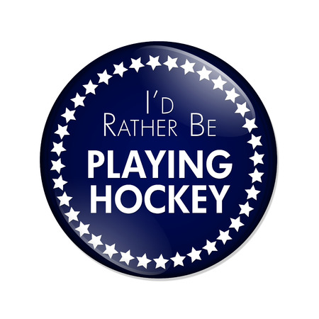 overwhite: Id Rather Be Playing Hockey Button