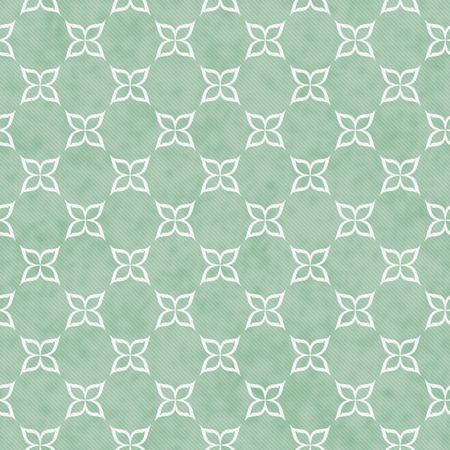 pale green: Pale Green and White Flower Symbol Tile Pattern Repeat Background that is seamless and repeats Stock Photo