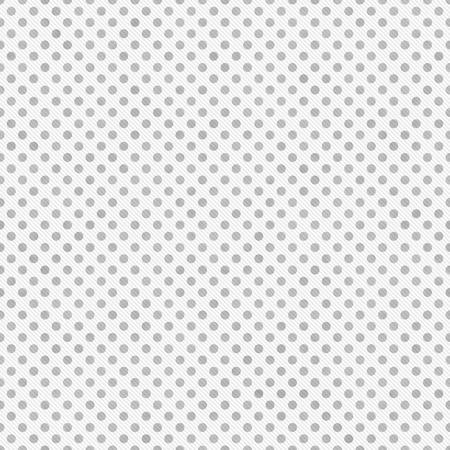 Hellgrauer und weißer Polka Dots Pattern Repeat Hintergrund, der nahtlos ist und sich wiederholt Standard-Bild - 37464410