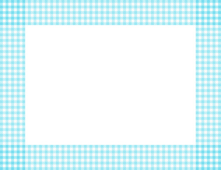overwhite: Teal Gingham Background with center isolated for copy-space, Teal Gingham Frame Stock Photo