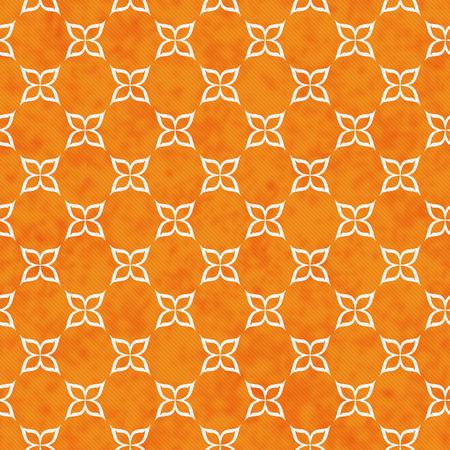 Orange Und Weiße Blumen-Symbol-Fliesen-Muster Wiederholen ...