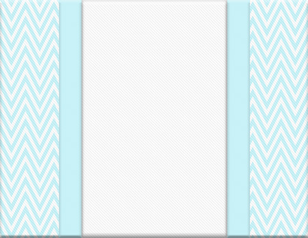 vintage background: Teal and White Chevron Zigzag Frame with Ribbon Background with center for copy-space, Classic Chevron Zigzag Frame