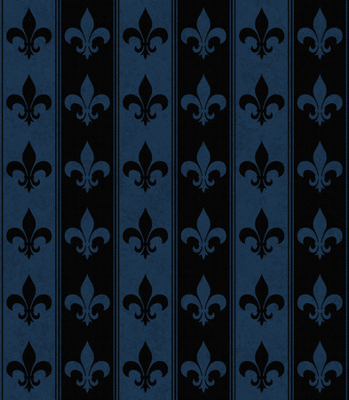 navy blue background: Black and Navy Blue Fleur De Lis Textured Fabric Background that is seamless and repeats