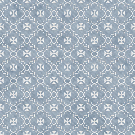 Pale Blue and White Maltese Cross Symbol Tile Pattern Repeat Background that is seamless and repeats photo