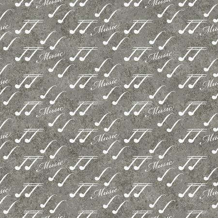 eight note: Gray and White Music Symbol Tile Pattern