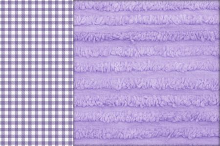 Baby Background, Purple gingham on the side with a chenille purple background with copy-space photo