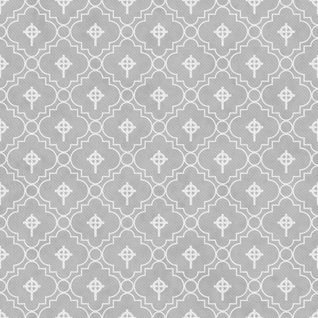 celtic cross: Gray and White Celtic Cross Symbol Tile Pattern Repeat Background that is seamless and repeats