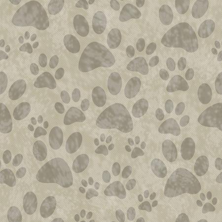huellas de perro: Brown Dog Paw Prints Teja modelo de la repetición de fondo que es transparente y se repite
