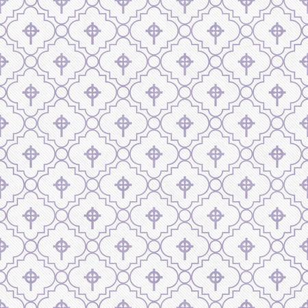 celtic cross: Purple and White Celtic Cross Symbol Tile Pattern Repeat Background that is seamless and repeats
