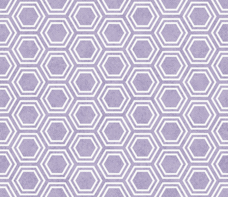 repeats: Purple and White Hexagon Tile Pattern Repeat Background that is seamless and repeats